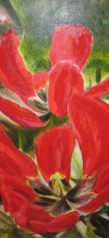 Al's Tulips, acrylic on canvas 48 x 24 SOLD