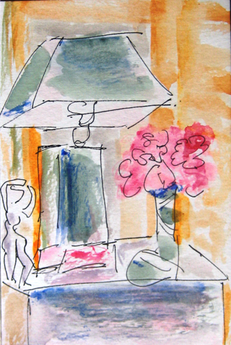 At Duisdale House, mixed media on paper 6 x 4